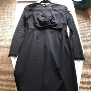 3/20$ Knotted front see through dress